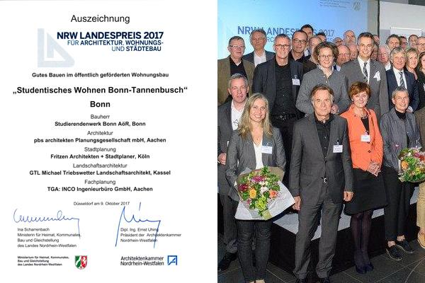 NRW Landespreis 2017 für Architektur, Wohnungs- und Städtebau