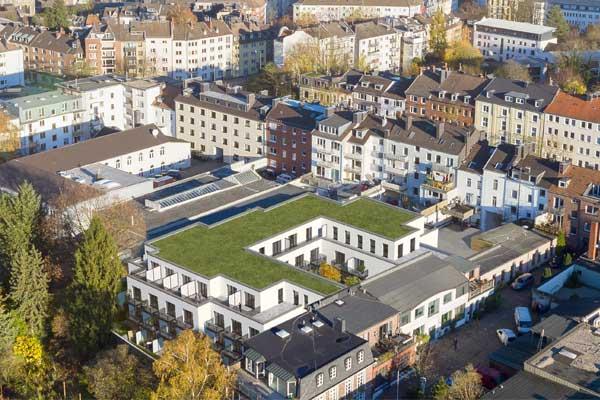 Baubeginn von 74 Appartements an der Lütticher Straße in Aachen