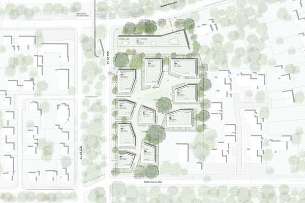 Städtebauliches Qualifizierungsverfahren in Dortmund, Max-Eyth-Straße 1. Preis