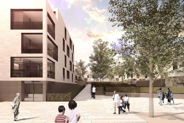 Baubeginn des geförderten Wohnungsbaus im Tuchmacherviertel