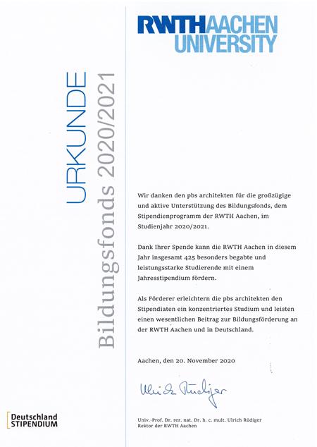 Bildungsfonds 2020/2021